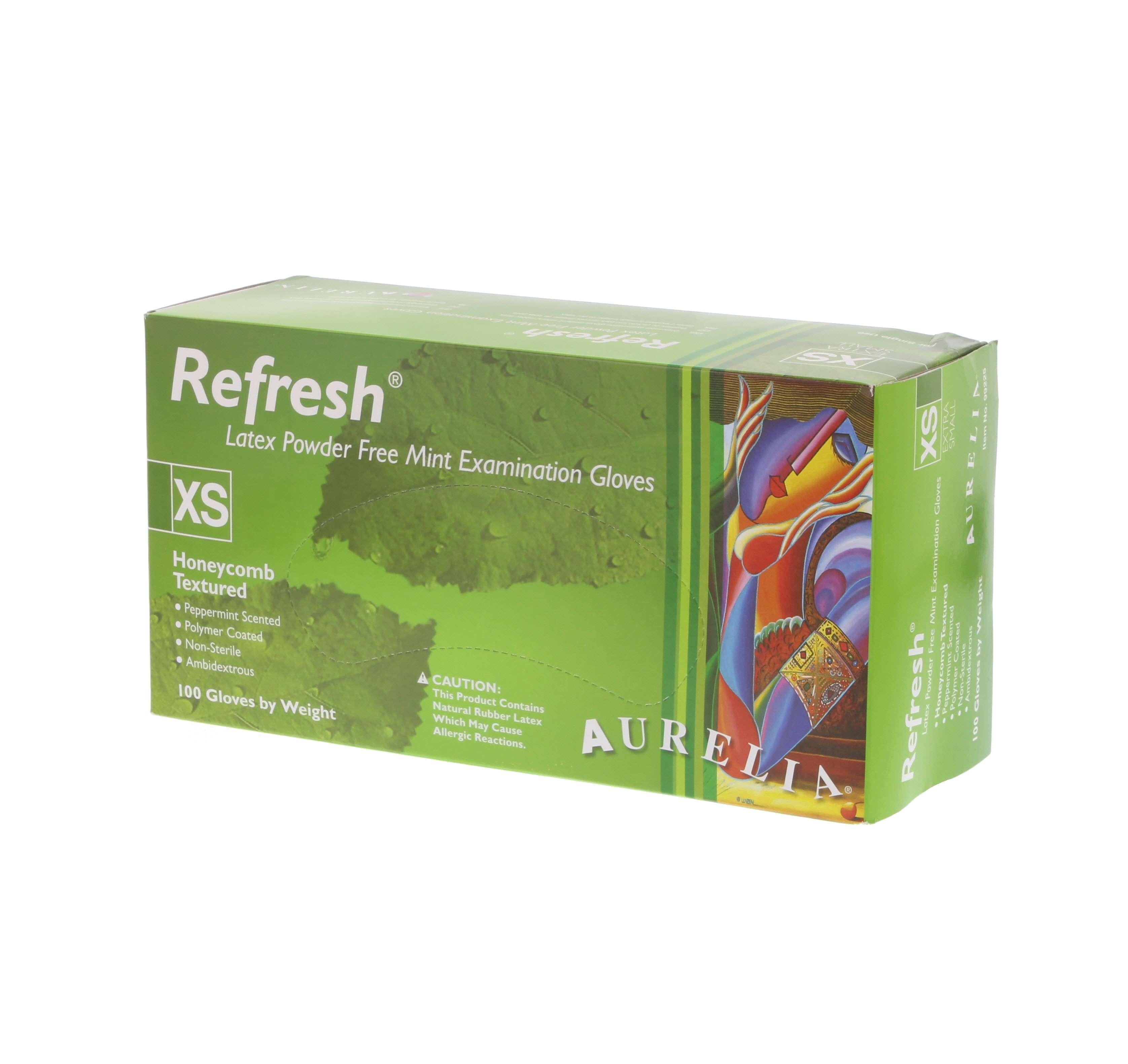 Refresh Mint Latex PF Gloves